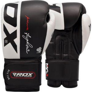 kozene cierno biele rukavice RDX