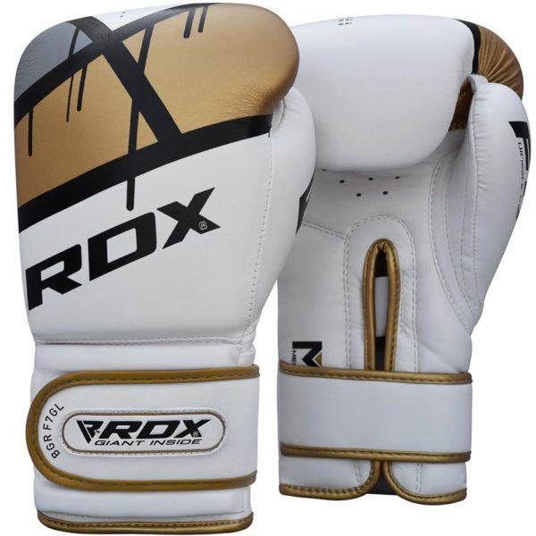 boxerske rukavice rdx bielo zlate