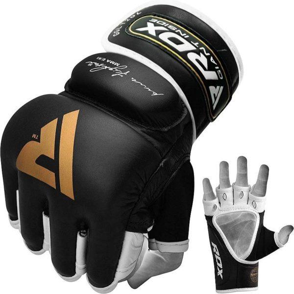 Kožené mma rukavice rdx T2 čierne